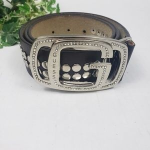 Guess rhinestone enlob brown studded belt